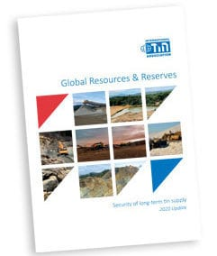 2020 Report on Global Tin Resources & Reserves