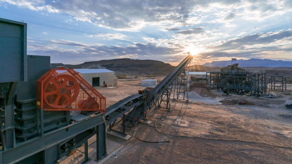 The run of mine pad at the Uis mine, owned by AfriTin Mining.